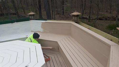 Our deck painting services will have you enjoying the outdoors without leaving your home!