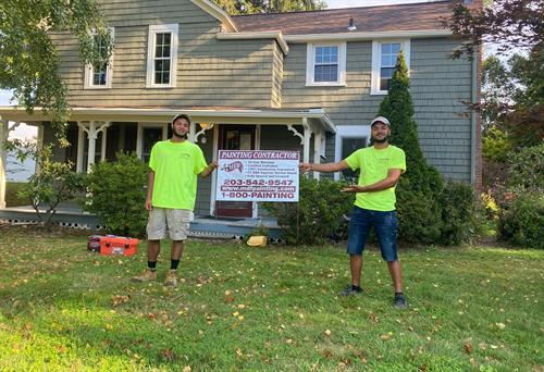 This crew has been working hard to restore this historic home! They even took care of the owner when he was sick!