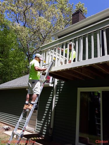 Taking staining and painting jobs to new heights!