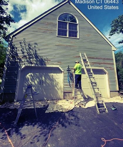 Exterior painting prep.