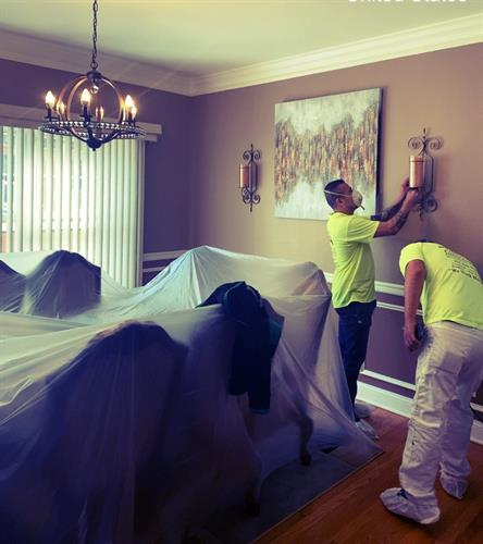 Our painters will paint your home and treat it with the upmost care.