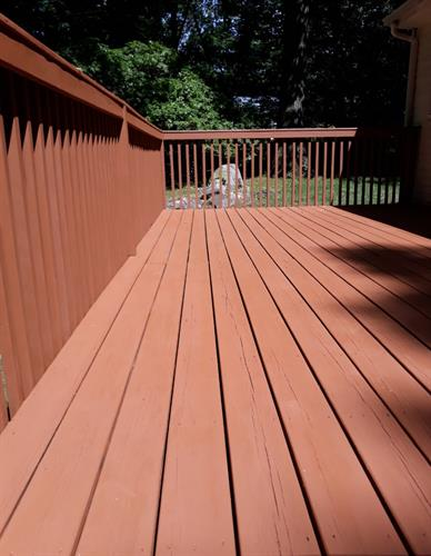 Turn your backyard into your oasis this summer with power washing, deck staining, & exterior painting! ??