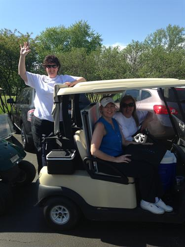Having fun at the chamber golf outing