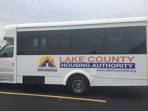 Lake County Housing - Bus graphics