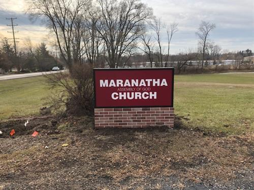 Maranatha Church - Illuminated monument sign