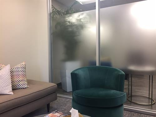 Office interiors - etched glass vinyl privacy film
