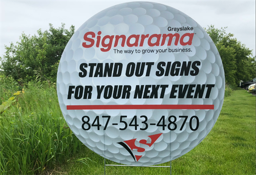 Custom shape promotional signs