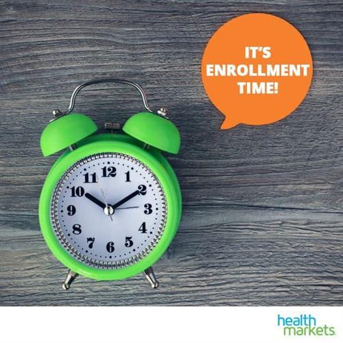 Open Enrollment is November 1st through December 15th of each year!