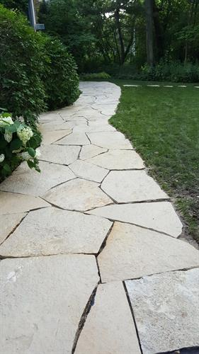 Limestone walking path - After
