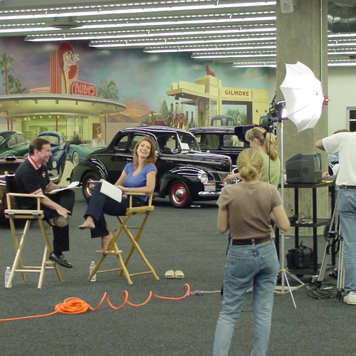 On location in Orange County filming infomercial for a automotive product