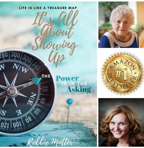 """It's All About Showing Up & The Power Is In The Asking,"" a #1 US Best Seller Virginia coauthored with Robbie Motter and other US and international authors."