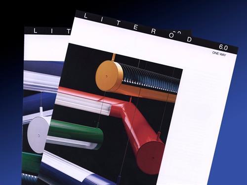 Marketing literature for lighting manufacturer