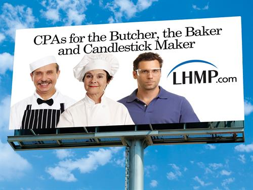 Advertising billboard for regional CPA firm