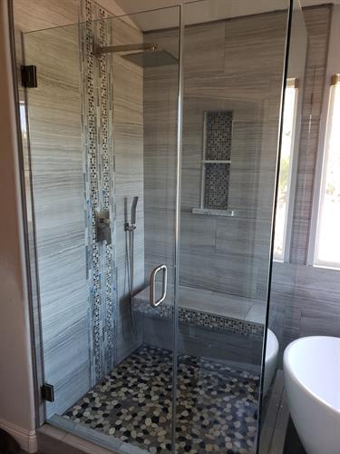 Shower bathroom remodel