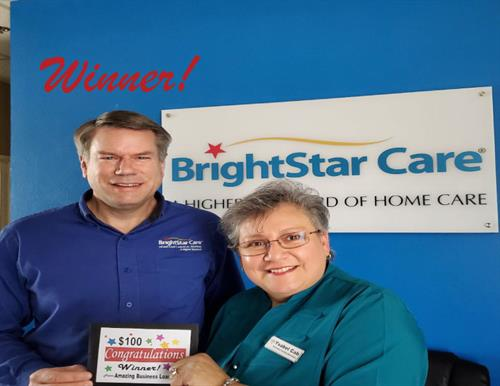 Congratulations Brent Barton at BrightStar Care. The Mega Mixer Winner From Amazing Business Loans for Free Money