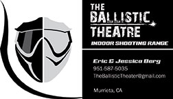 Business Card for The Ballistic Theatre