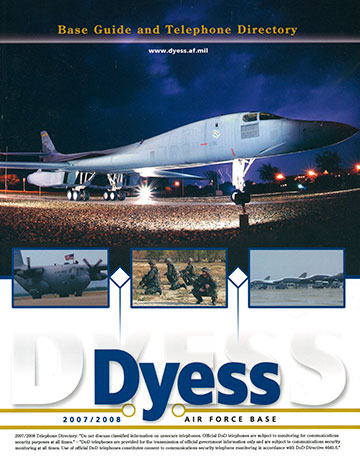 Cover for Dyess Air Force Base Guidebook (*©MARCOA Publishing)