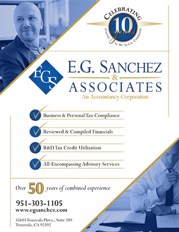 Ad for E.G. Sanchez and Associates