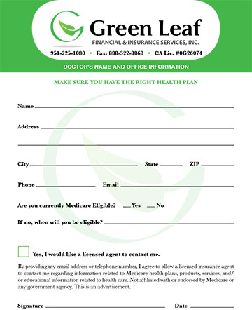 Request Form for Greenleaf Financial