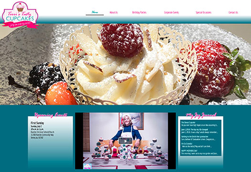 Website for Terri's Tasty Cupcakes