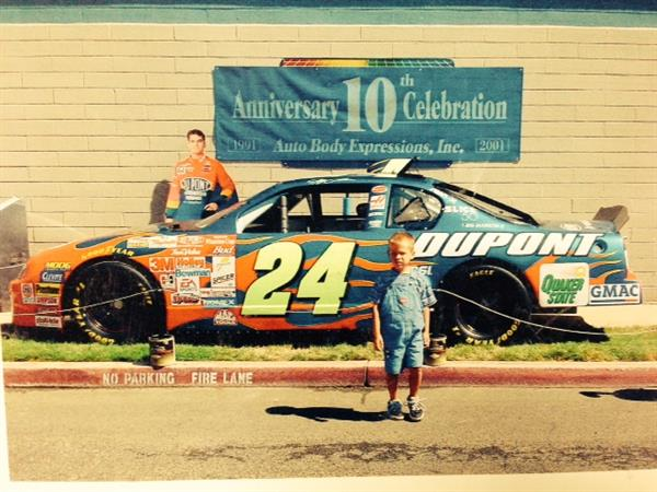 Jeff Gordon's #24 Chevrolet at Our 10th Anniversary Party in 2001