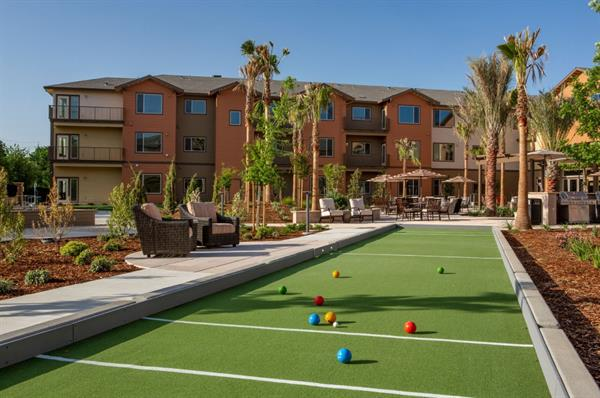 Bocce Court in the Courtyard