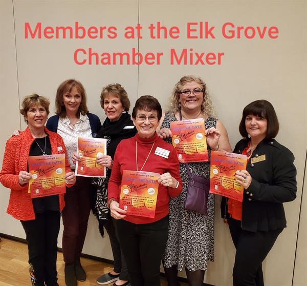 Soroptimist members at a Elk Grove Chamber Mixer.