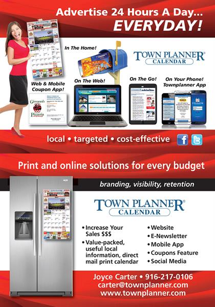 Town Planner Community Calendar Advertising Direct Mail