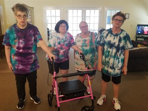Camp Excursion Activity: We made tie Dye T-Shirts and wearing it.