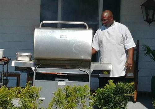 Cooking out with Executive Chef Antonio Farmer