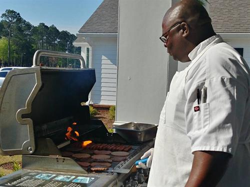 Grilling out with Executive Chef, Antonio Farmer