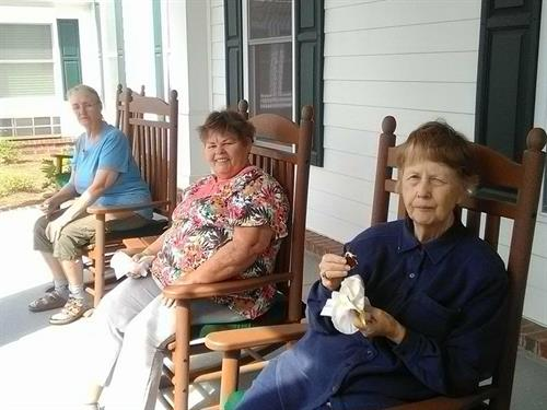 What a great day to enjoy ice cream on the front porch!