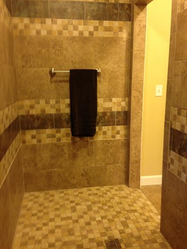 Downstairs Roll-in shower