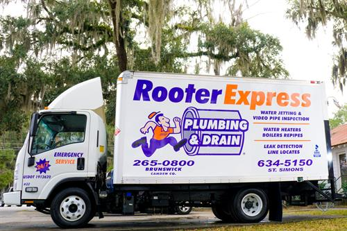 Fully stocked truck for plumbing & drain cleaning