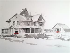 Maine Home Portrait Artist