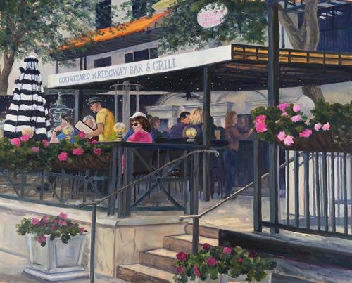 'Courtyard Rendezvous' 16x20 Oil - sold