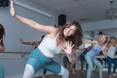 we offer a wide range of classes including: hot sweat + flow (vinyasa), sweat + shake (barre), hot sweat remix (bikram style), the daily restore (yin) + more. Mom + me options are included weekly + we also offer several workshops weekly.
