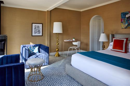 Guest room in James Fairfield House (formerly Captain Fairfield Inn)