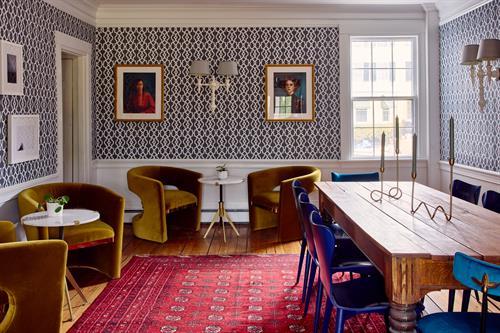 Dining area in James Fairfield House (formerly Captain Fairfield Inn)