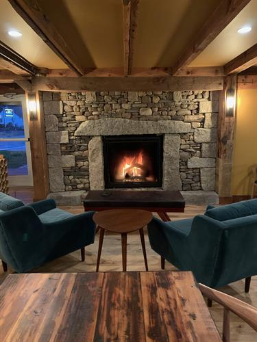 Fireplace seating - stone work by Brian Fairfield - That Stone Guy