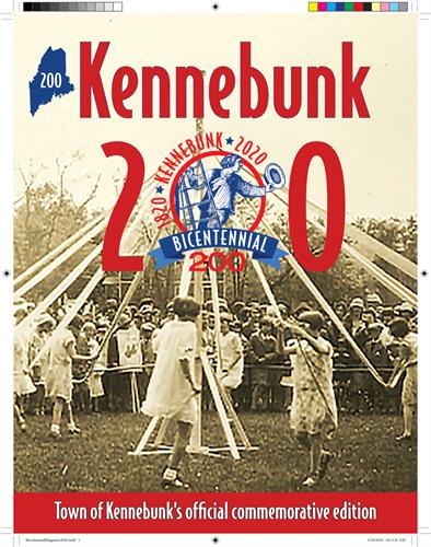With the help of the Town of Kennebunk Bicentennial Committee, I designed this 32-page commemorative book chock full of articles, historic photos, and a town timeline of historic town events.