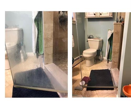 shower before and after