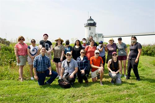 TCI Team where it all began; on Goat Island! Goat Island is so special to TCI due to our roots in the Gulf of Maine Field Studies Class, a curriculum in partbership with RSU 21, The University of New England, Kennebunkport Conservation Trust and the Gulf of Maine Institute.