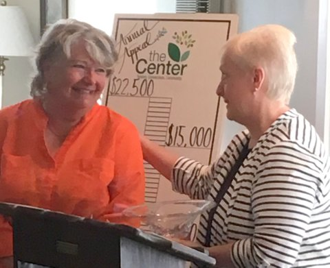 Diane Thayer won our Model of Positive Living Award in 2017.