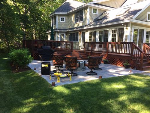 Patio, Firepit, and new lawn!