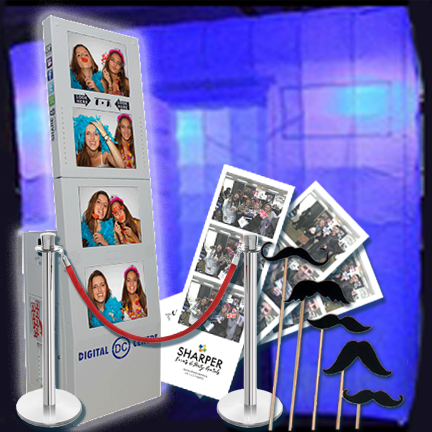 Full service Photo Booth Rentals for your next big event including Weddings. Sharper Events & Party Rentals.