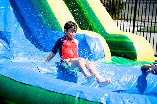 Waterslide, Obstacle Courses, Bounce Houses galore!  We are Sharper Events & Party Rentals located in Kennebunk Maine.
