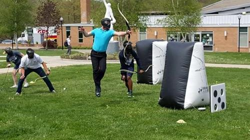 Archery Tag!  Is Maine's hottest new party and event rental and is available exclusively through Sharper Events & Party Rentals.