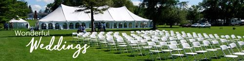 Southern Maine's best place for Weddings and event rentals.  Full Service is Sharper Events & Party Rentals in Kennebunk Maine.