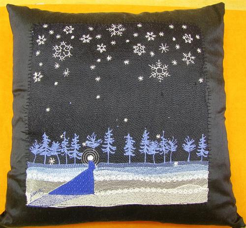 Clothe My Soul silk pillow embroidery